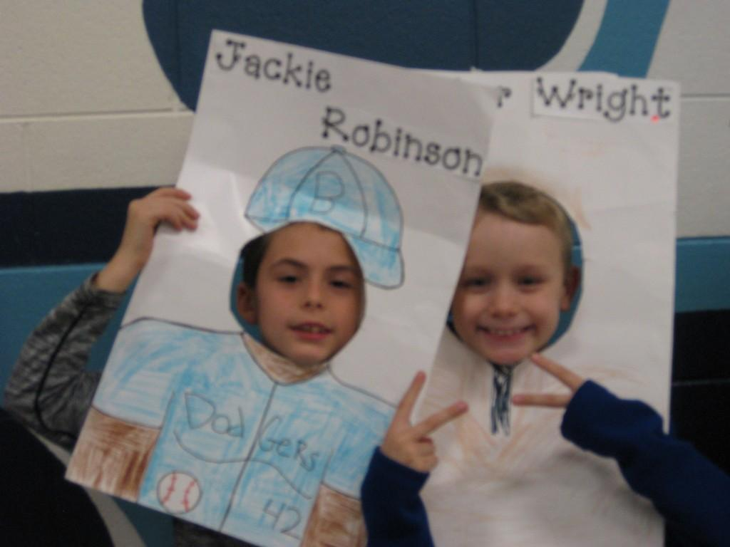 Wax Museum-Jackie Robinson and a Wright brother