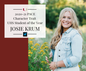 Josie Krum - PACE Character Trait Student of the Year