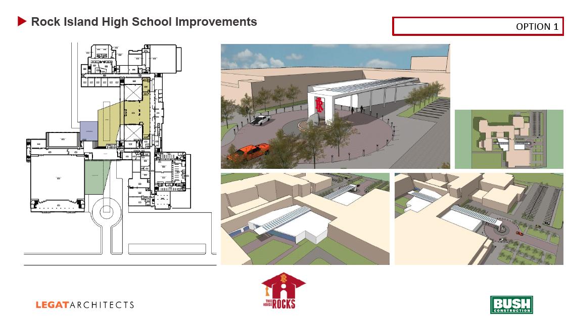 Rock Island High School preliminary design option 1