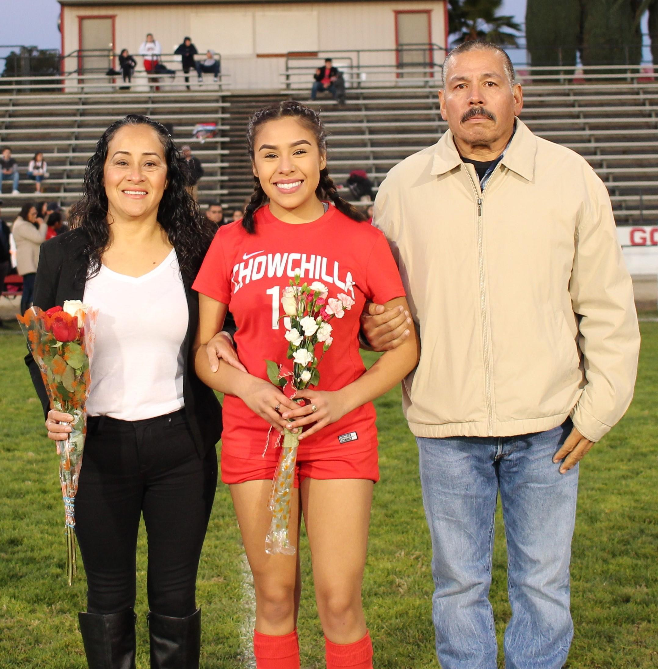Guiliana Rodriguez at soccer senior night
