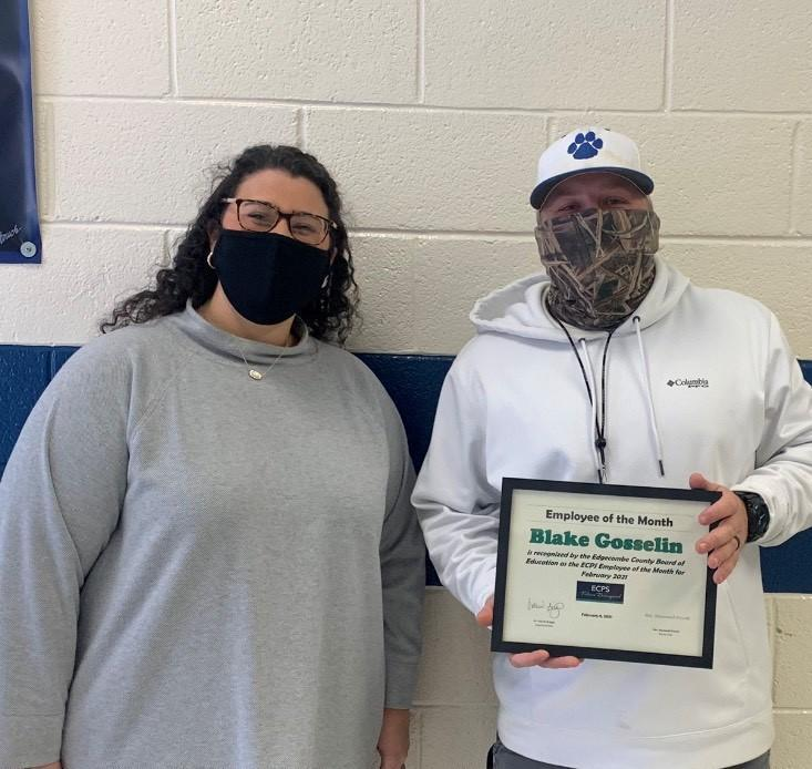 Blake Gosselin selected as ECPS Employee of the Month Featured Photo