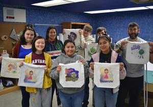The GCTC Graphic Design program created custom trick-or-treat bags as a fundraiser for future SkillsUSA events. All bags sold included customized artwork and glow-in-the-dark elements.