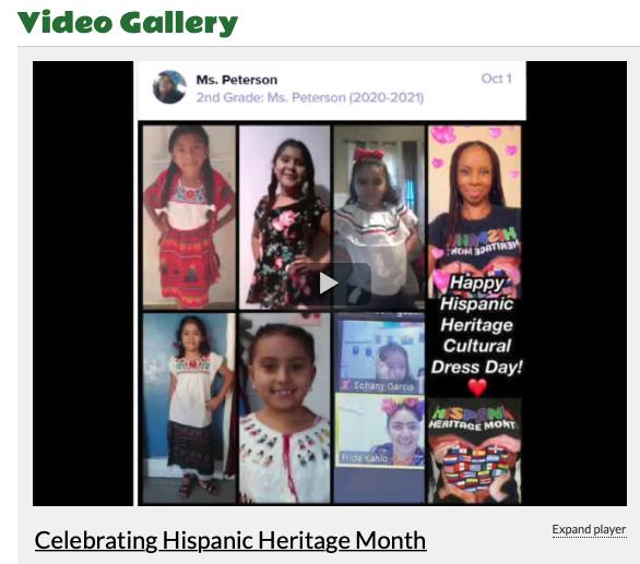 Hispanic Heritage Month Celebration Video Featured Photo