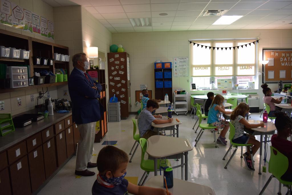 looking at classroom