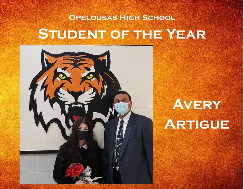 Avery Artigue Student of the Year