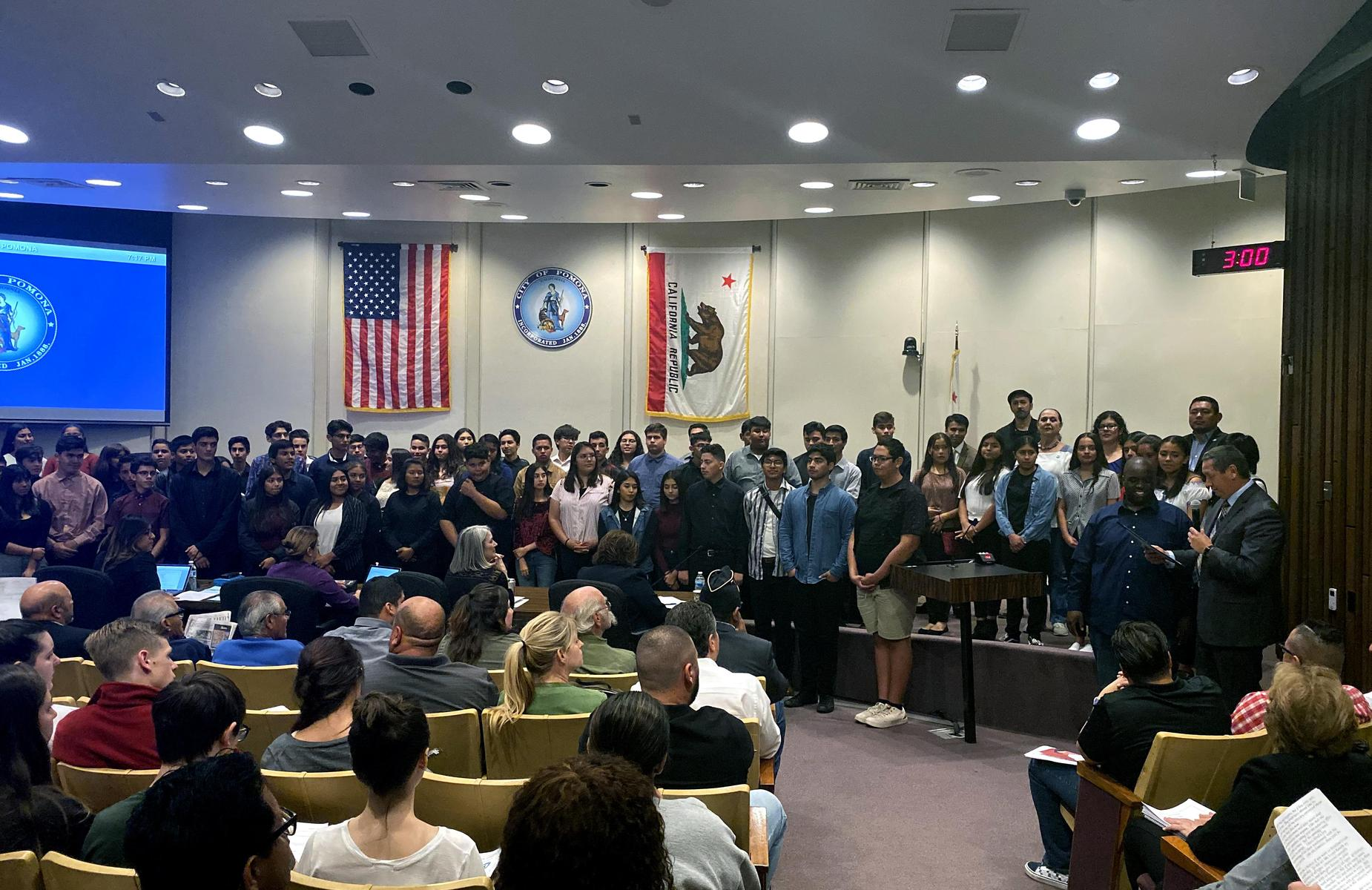 We are #proud of the @GareyHighPUSD Marching Band for their #musicalsuccess! The band was recognized by @CityofPomona for their amazing #award-winning season! Congratulations to Music Director Anthony Bonner for your leadership and enormous success! #proud2bepusd #GOAT #Pomona