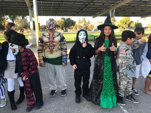 A group of students in costume, image 1