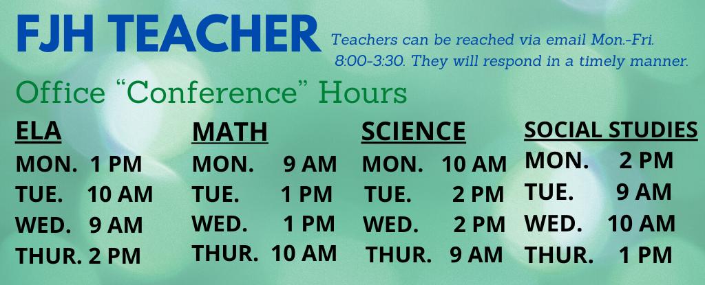 FJH Teacher Schedule