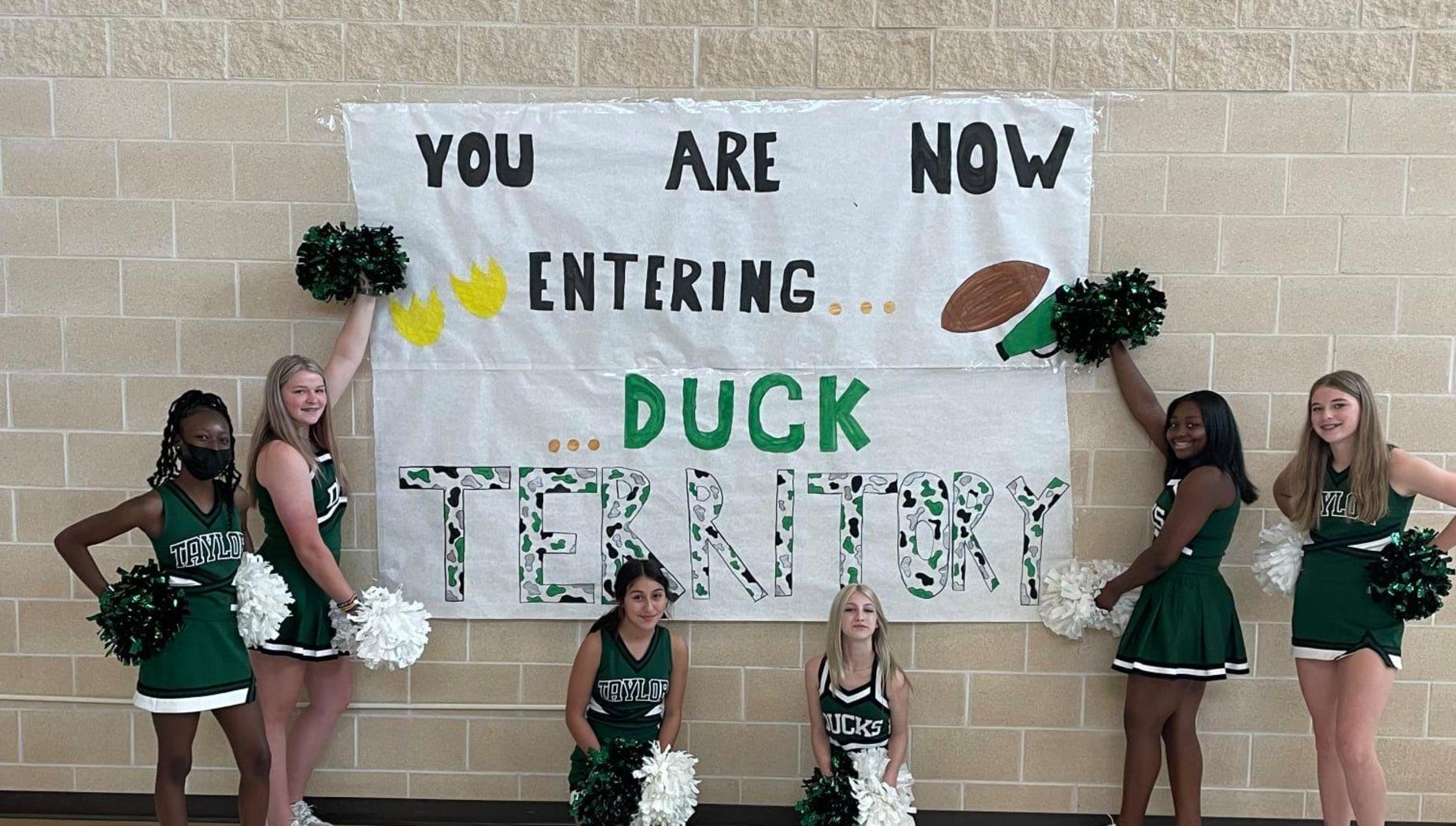 Taylor duck territory cheerleaders