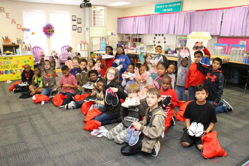 Students receive new shoes