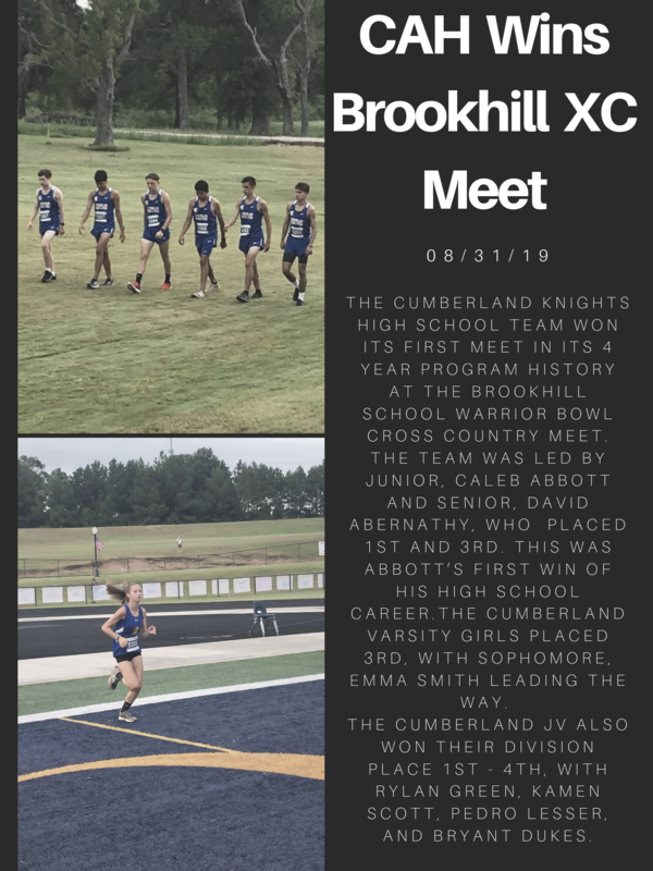 Cumberland Boys Win Brook Hill XC Meet Featured Photo