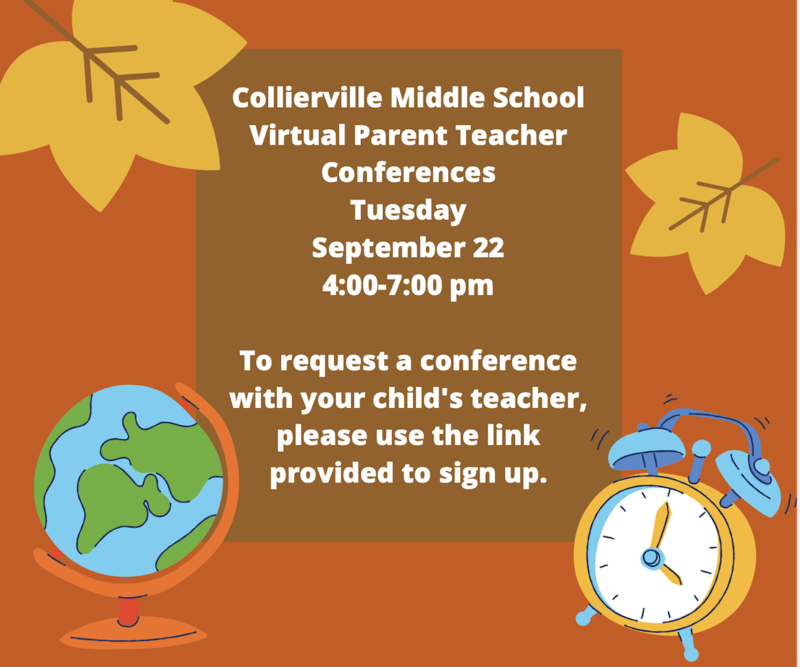 Collierville Middle School Virtual Parent/Teacher Conference Sign Up Featured Photo