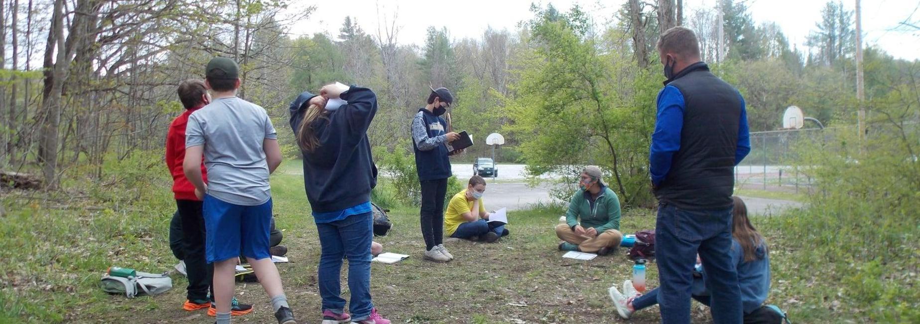 students learn outside