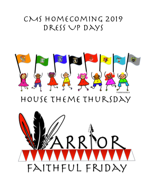 Homecoming 2019 Dress Up Days for CMS Featured Photo