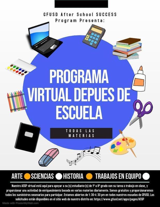 Programa después de escuela virtual Thumbnail Image