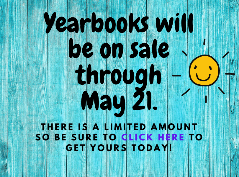 Yearbooks for Sale Until May 21.