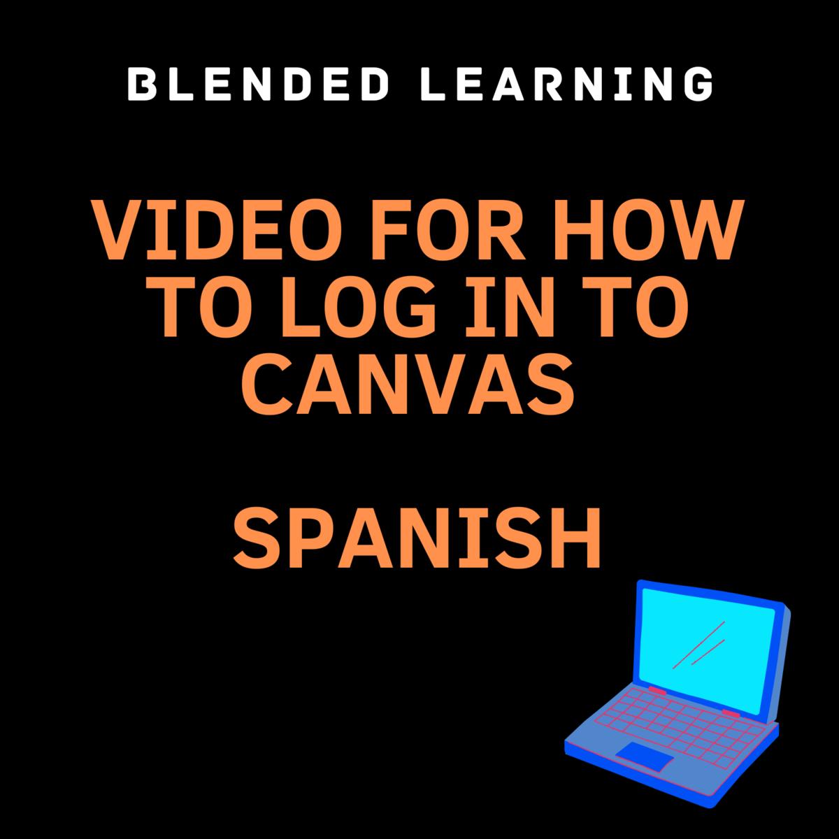 canvas log in spanish