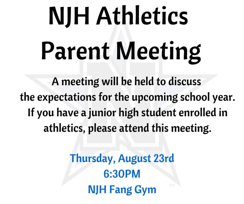 NJH Athletics Parent Meeting Featured Photo