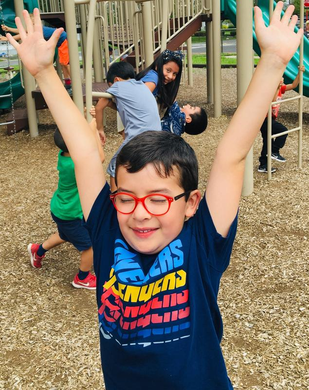 McKinley third grader Daniel Zarate Gomez enjoys the English Language Learners (ELL) Summer Experience at Wilson Elementary School.