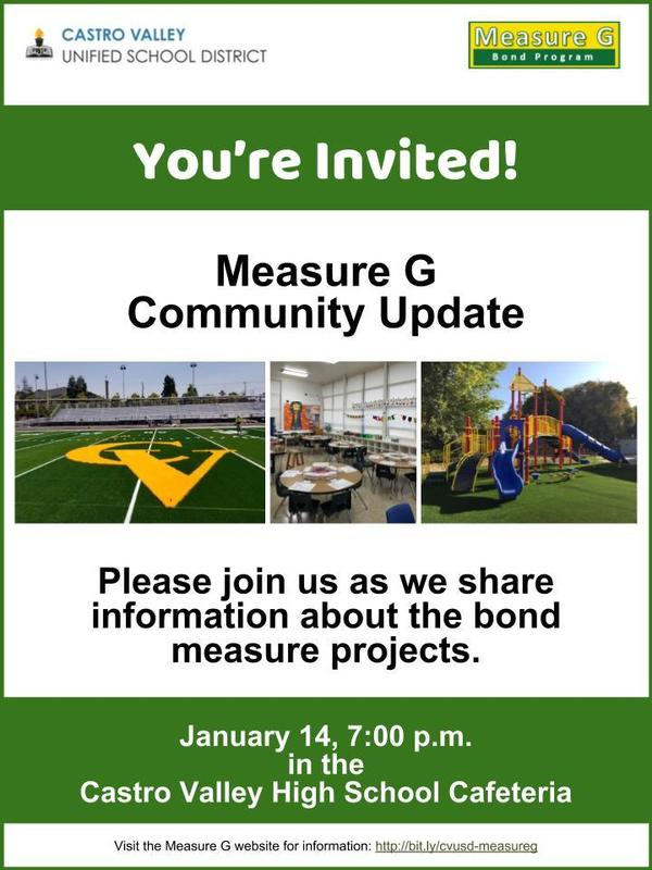 flyer for measure g community meeting