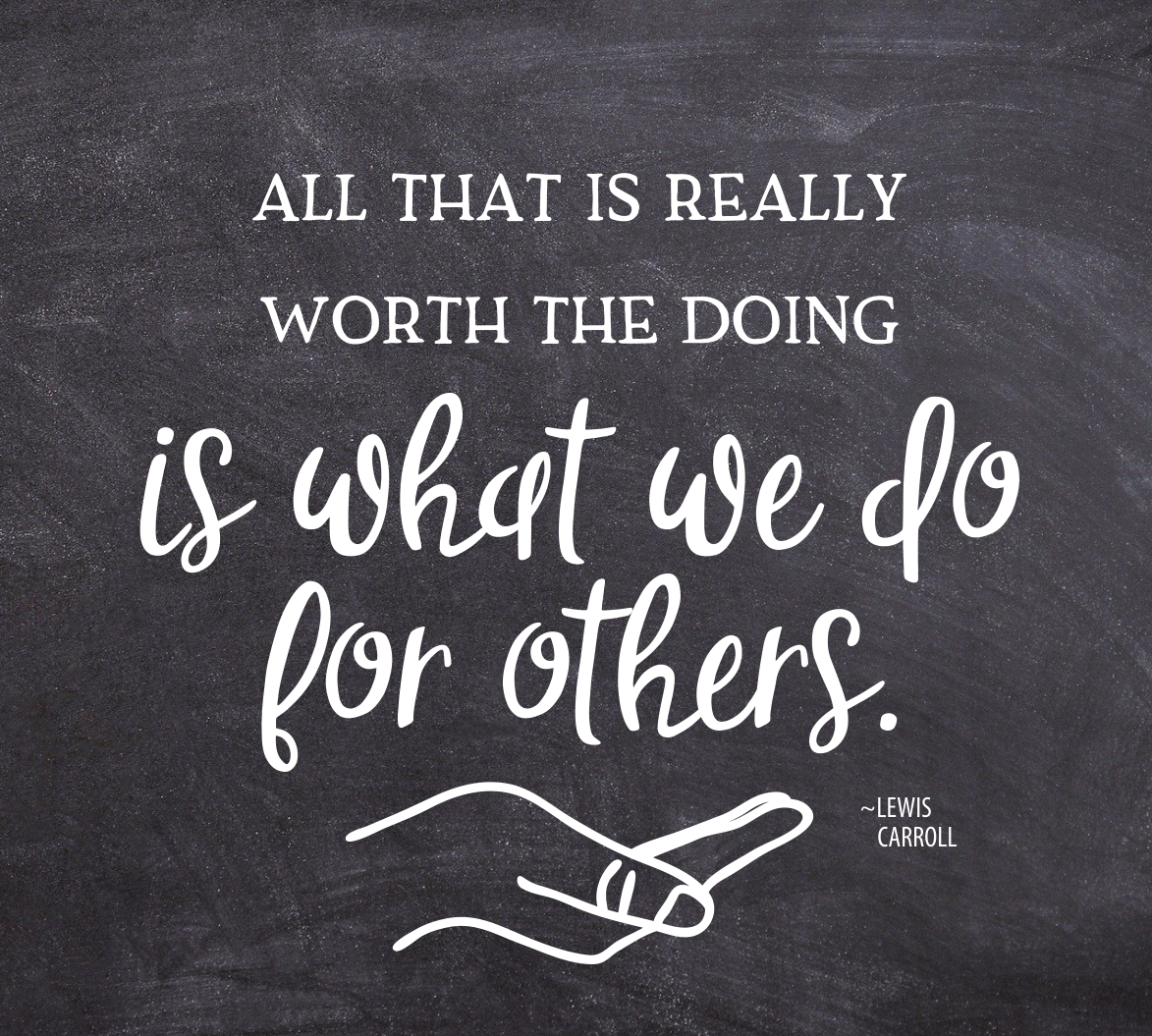 doing for others quote graphic