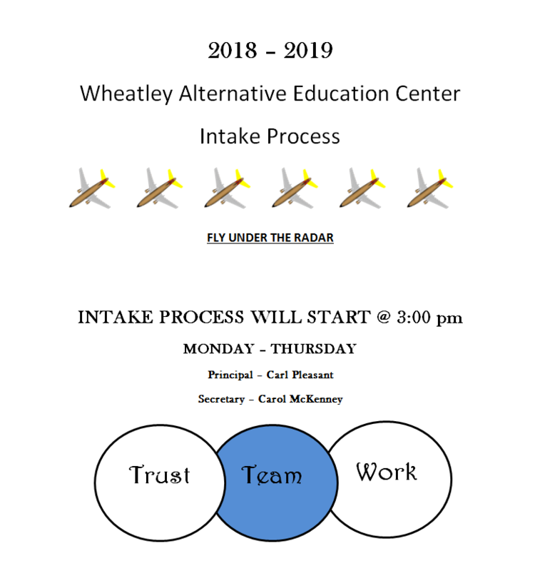 Image of Intake Process Monday - Thursday 3:00 PM