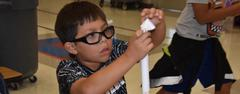 North Elementary students created their own paper rockets that they launched during a recent visit by the Perot Museum's Tech Truck. The school will be a certified STEAM Academy in 2019-2020.