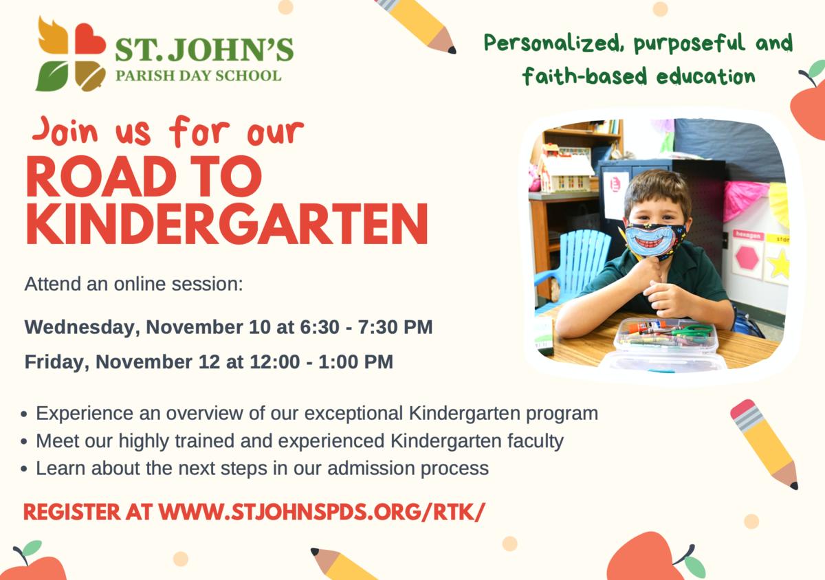 road to kindergarten flyer