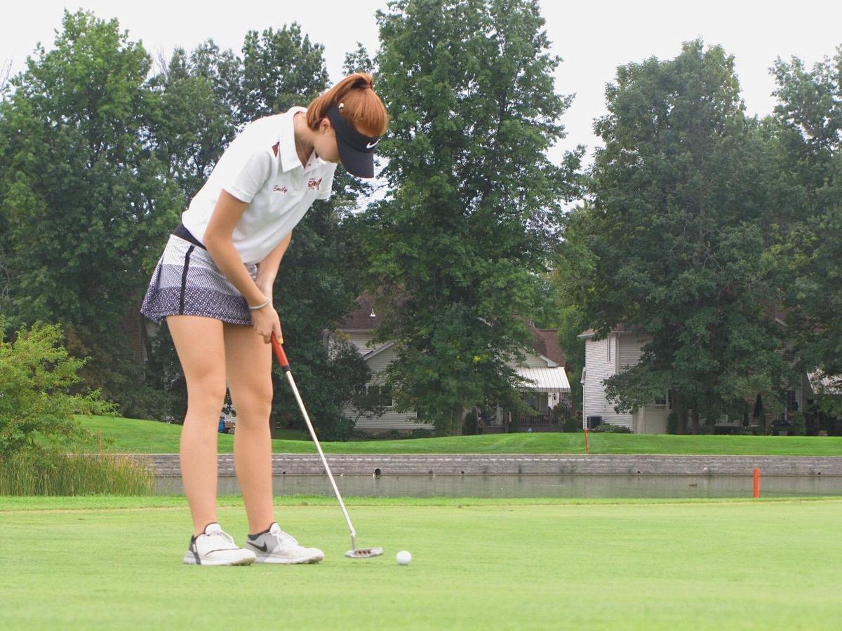 one golfer after her shot