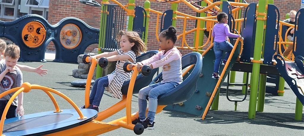 Girls on the playground