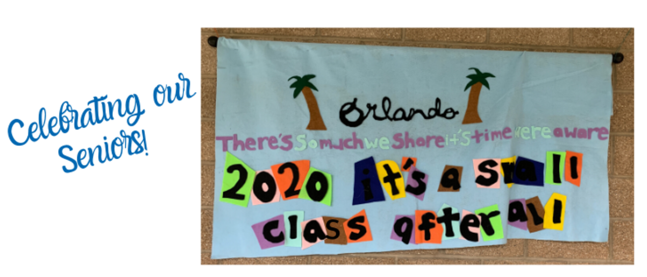 banner that says: We're a small class after all