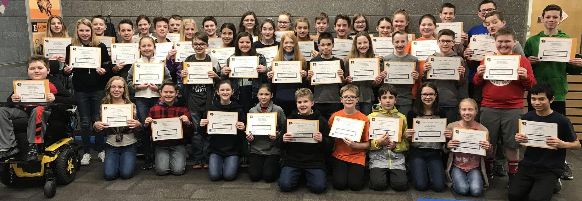 6th Grade Students of the Quarter-2nd Quarter