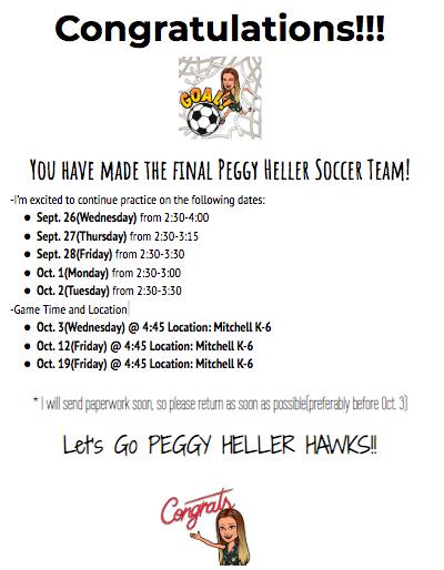 Soccer Intramural Schedule (4th-6th)