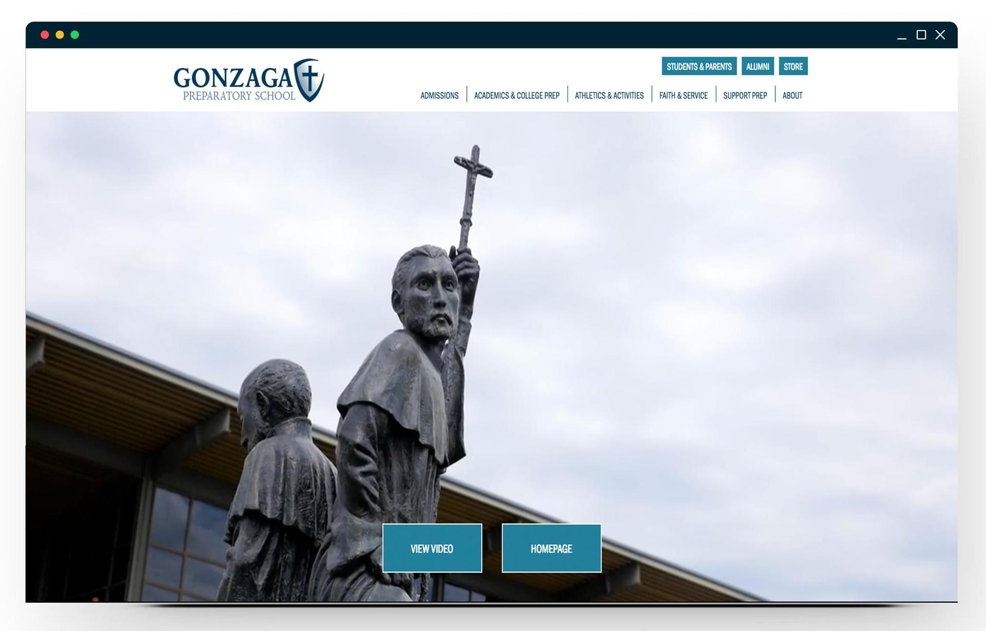 Gonzaga Prep homepage