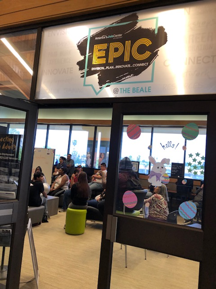 RCC Students Visit EPIC @ the Beale Library