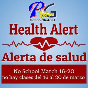 No School March 16-20 no hay clases del 16 al 20 de marzo