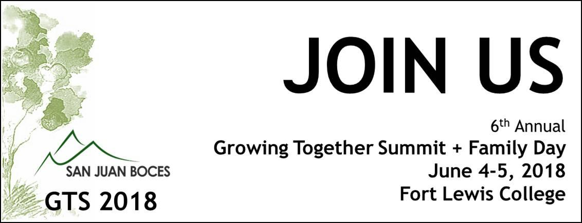 Growing Together Summit June 4-5, 2018