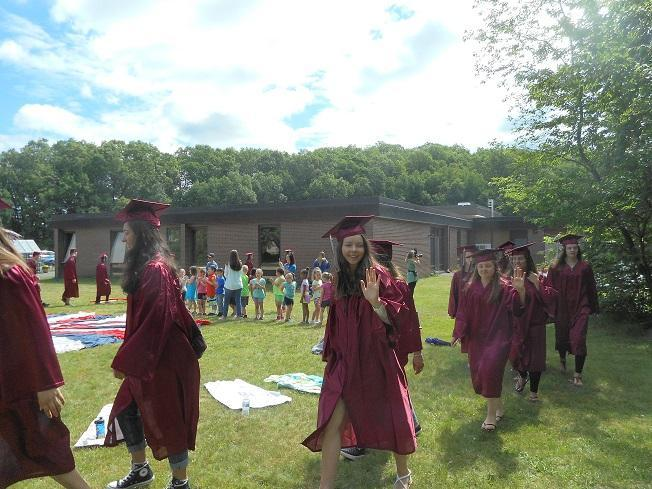 Grad Walk on Field Day