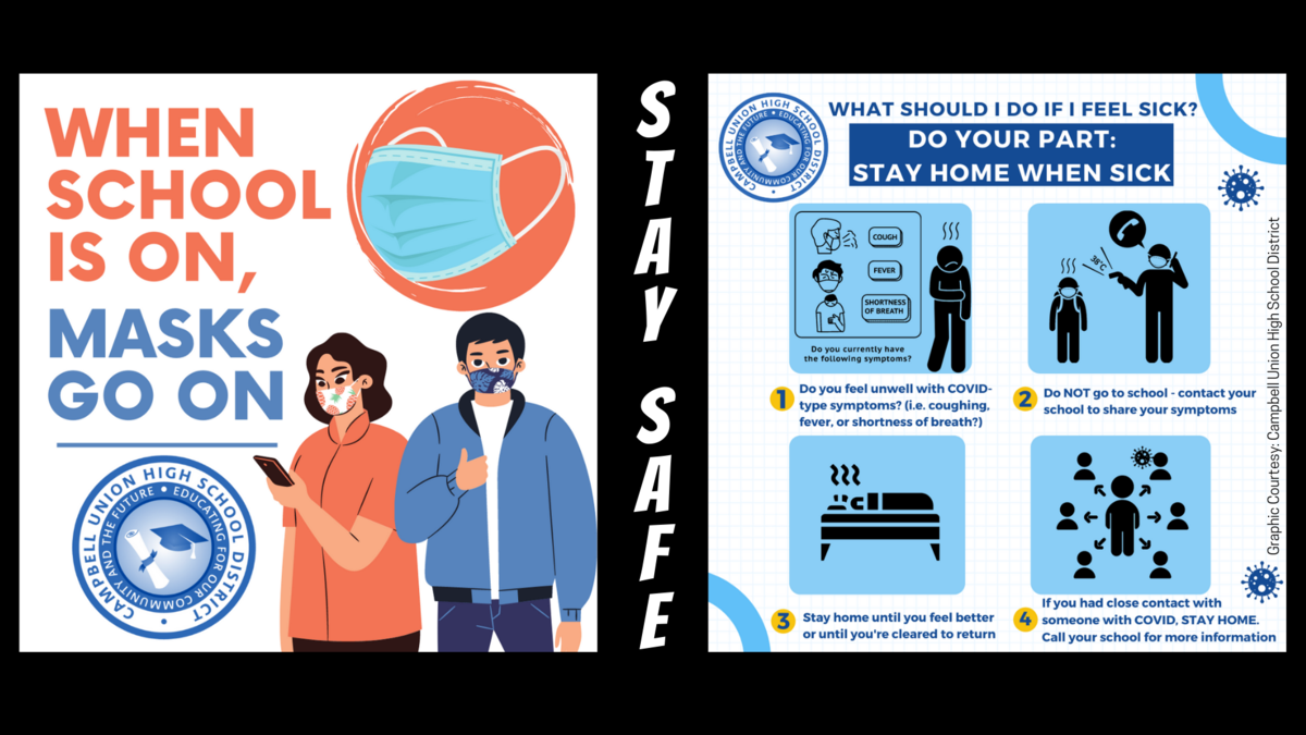 stay safe with masks and stay home when sick