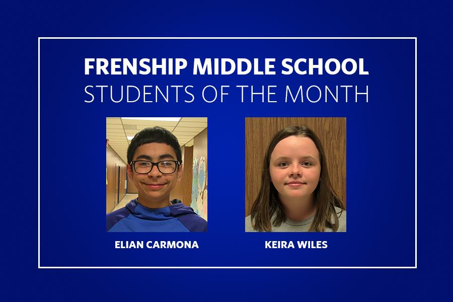 Frenship Middle Students of the Month