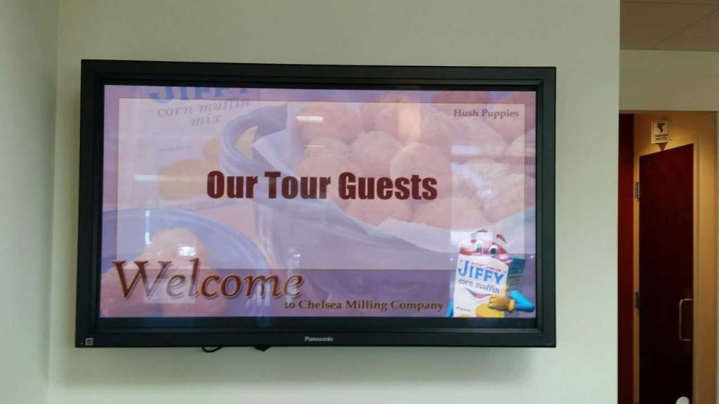 Tour welcome sign.