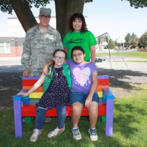 The family who made the Friendship Bench