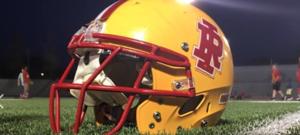 Rocks football helmet