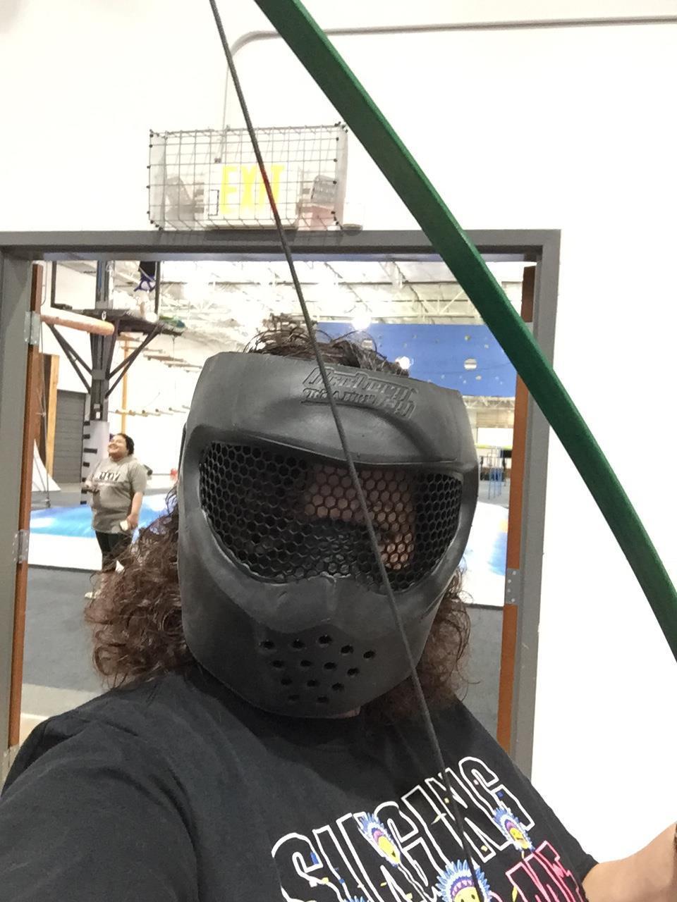 Mrs. Hammock in her protective mask