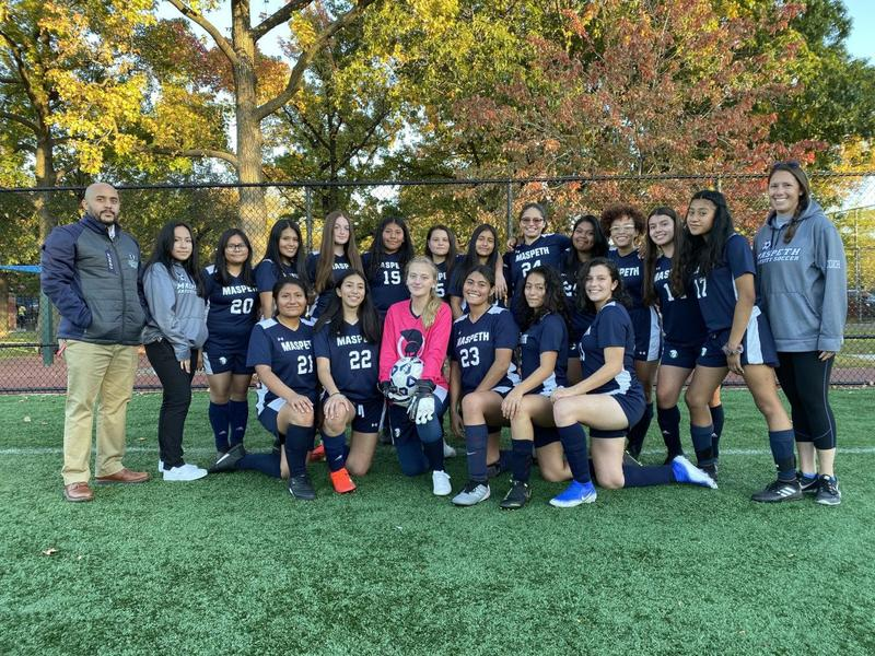 In the News . . . Maspeth High School girls soccer team clinches undefeated season Featured Photo