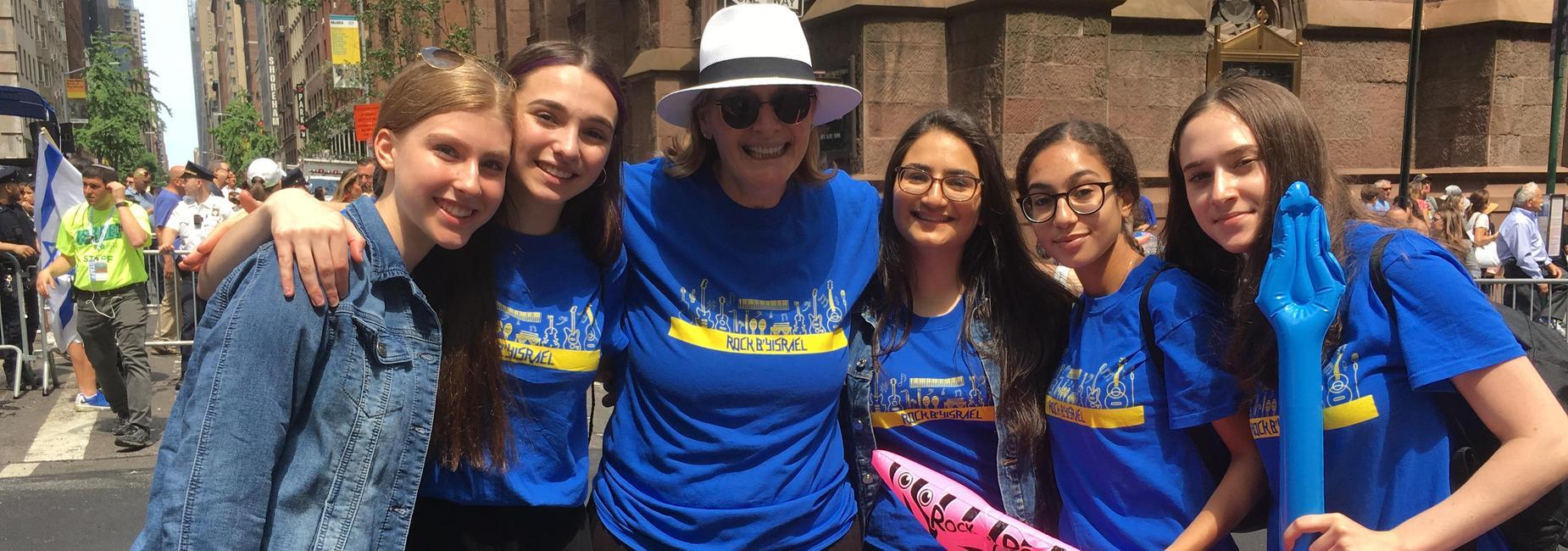 WHHS students at Celebrate Israel Parade