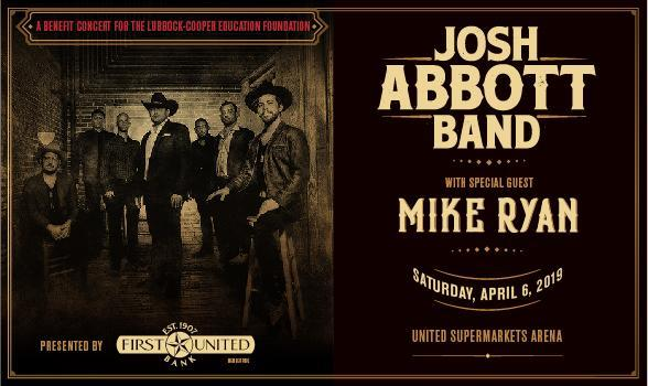 LCEF and First United Bank Presenting Josh Abbott Band Saturday, April 6 Thumbnail Image