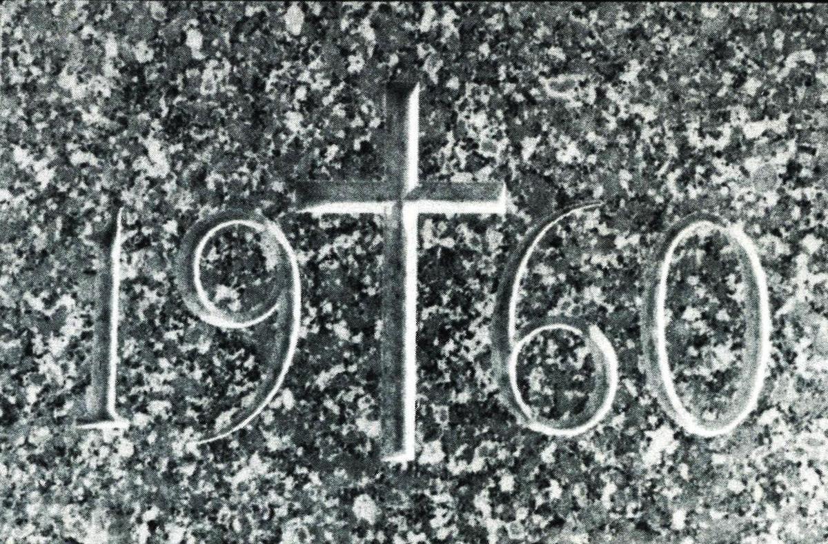 1960 cornerstone