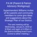 PAW Meeting Invitation