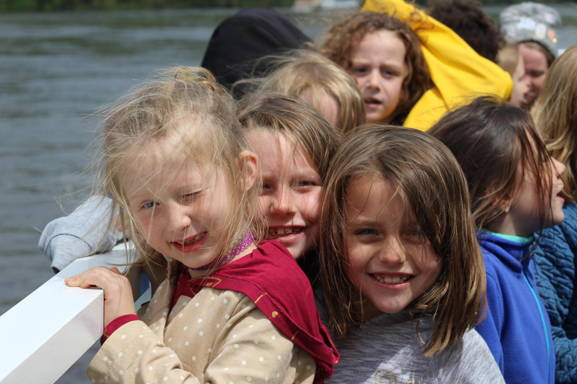 Student on the Taylors Falls boat ride